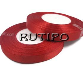 8055 Стрічка атласна червона, 1см * 32.5м (бобіна)