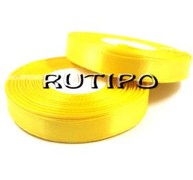 8011 Satin ribbon lemon yellow, 1cm * 1m