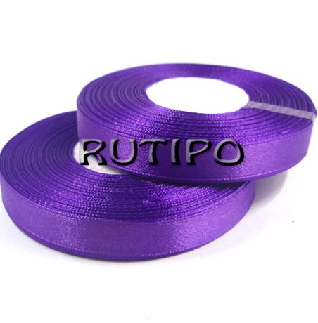 8122 Лента атласная фиолетовая, 1см*32.5м (бобина)