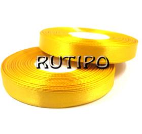 8012 Стрічка атласна золотисто-жовта, 1.25см * 1м