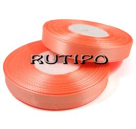 8025 Стрічка атласна помаранчевий персик, 1.25см * 1м