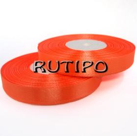 8027 Стрічка атласна яскраво-помаранчева, 1.25см * 32.5м (бобіна)
