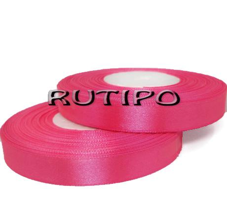 8040 Лента атласная ярко-розовая,  1.25см*32.5м (бобина)