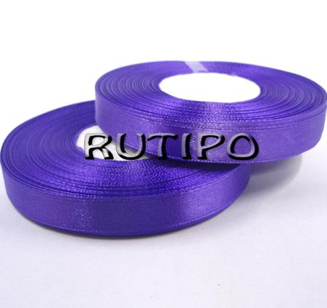 8115 Стрічка атласна фіолетова, 1.25см * 32.5м (бобіна)