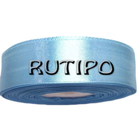8099 Лента атласная голубая, 2.5см, 5м (+5м в подарок)