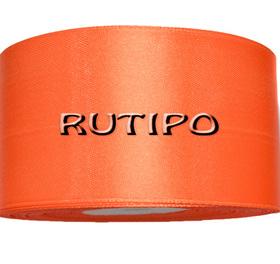8027 Лента атласная ярко-оранжевая, 5см*32,5м (бобина)