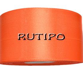 8027 Стрічка атласна яскраво-помаранчева, 5см, 5м (+ 5м в подарунок)