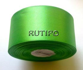 8075 Стрічка атласна світло-зелена, 5см * 32,5м (бобіна)