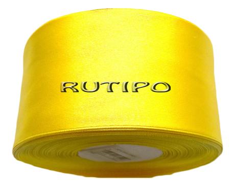 8011 Лента атласная желто-лимонная, 5см*32,5м (бобина)