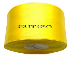 8011 Стрічка атласна жовто-лимонна, 5см, 5м (+ 5м в подарунок)
