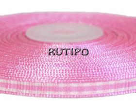 Стрічка в клітку рожева, 7мм, бобіна (45-46м)