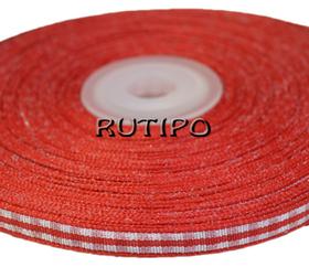 Стрічка в клітку червона, 7мм * 10м