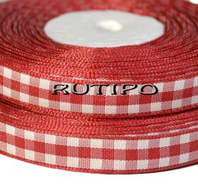 Стрічка в крупну клітку червона, 10мм * 10м