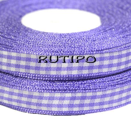 Стрічка в клітку фіолетова, 10мм * 1м