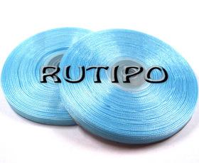Стрічка органза блакитна, 7мм * 45м
