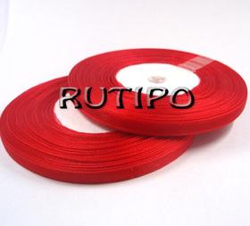 Стрічка органза яскраво-червона, 7мм * 45м