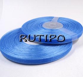 Лента органза ярко-голубая, 6мм*1м