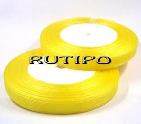 Лента органза желтая, 7мм*1м