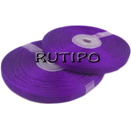 Стрічка органза фіолетова, 7мм * 20м