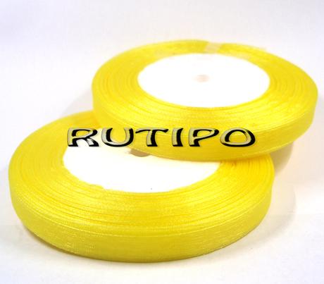 Лента органза желтая, 1см*45м