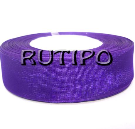 Лента органза фиолетовая, 2.5см*45м