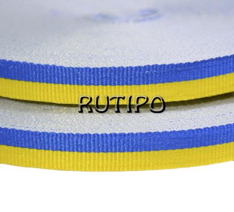 Лента репсовая желто-синяя, 10мм*1м