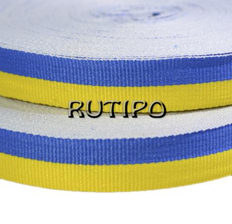 Стрічка репсова жовто-синя, 15мм * 1м