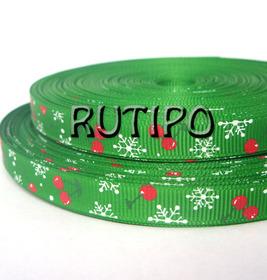 Стрічка репсова зелена