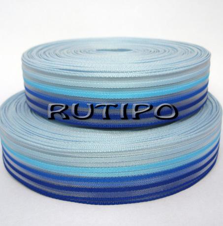 Лента в сине-голубую полоску, 25мм*1м