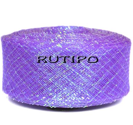 Регілін світло-фіолетовий з люрексом, 45мм * 1м