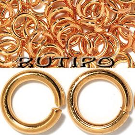 Колечки плотные под розовое золото, 6*1мм, 2гр