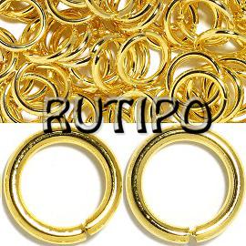 Колечки монтажные под золото,5*0.5мм, 2гр
