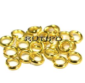 Колечки плотные под золото, 5*1мм, 2гр