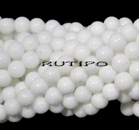 Бусина Мрамор белый, 4мм, шт
