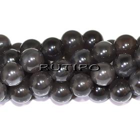 Бусины темно-серый Обсидиан, 8мм, шт