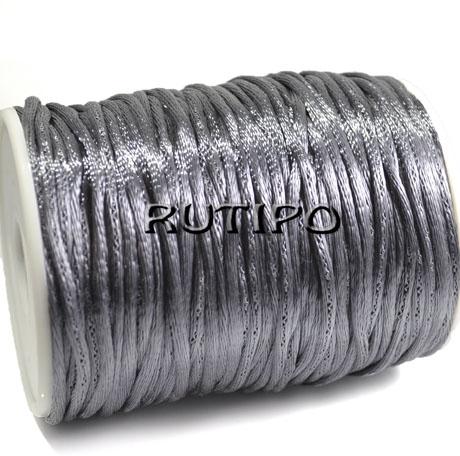 Нейлоновый шнур серый, 2.5мм*1м