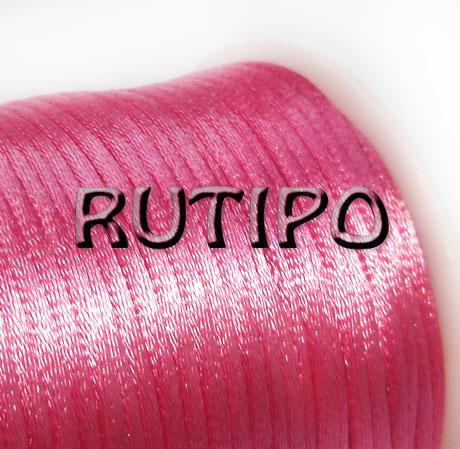 Атласный нейлоновый шнур розовый, 2.5мм*1м