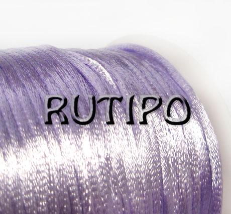 Атласный нейлоновый шнур светло-сиреневый, 2.5мм*1м