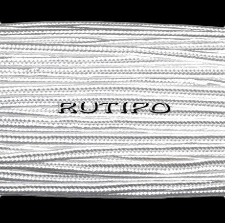 Сутажный шнур белый (глянцевый), 3мм*1м