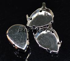 Frame Steel color, drop 18*13mm, pcs