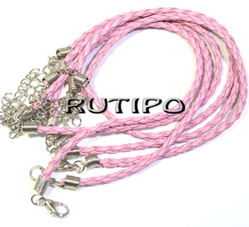 Основа для браслета розовая 200*3мм, шт