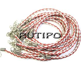 Основа для браслета красно-белая 200*3мм, шт