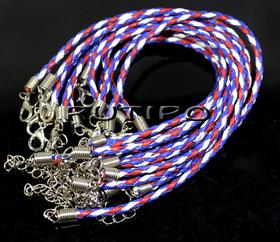 Основа для браслета красно-белая-синяя 200*3мм, шт