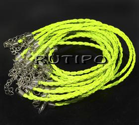 Основа для браслета желто-зеленая 200*3мм, шт