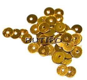 Пайетки Goldenrod 5мм, 1г (ок.150шт)