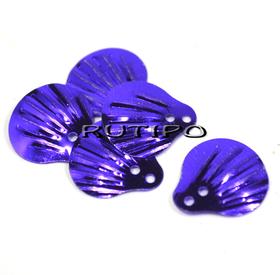 Пайетки чешуйки фиолетовые 14мм, 10шт