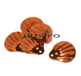 Пайетки чешуйки оранжевые 14мм, 10шт