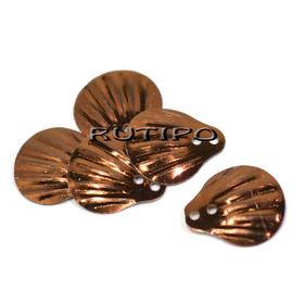 Пайетки чешуйки коричневые 14мм, 10шт