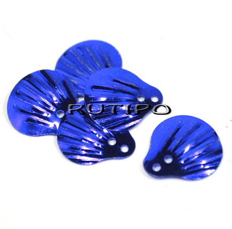 Паєтки лусочки сині 14мм, 10шт