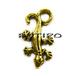 """Підвіска """"Ящірка"""" під золото, 23 * 12мм, 20шт"""